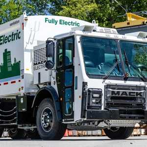 New York City will begin testing a new fully electric garbage truck — see the Mack LR Electric