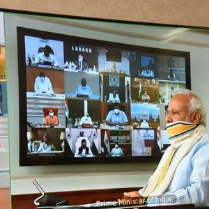 Prime Minister Modi Kovid-19 review meeting with Chief Ministers of 7 states
