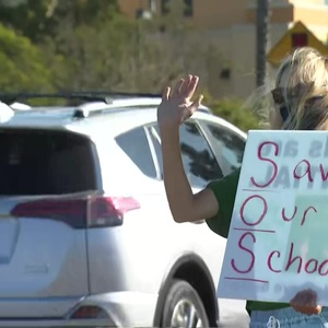 Parents Rally at SDUSD Headquarters for Return to In-Person Learning