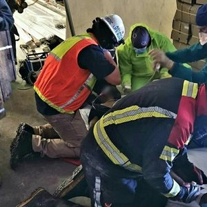 PICS | Man injured after shelf of metal pipes falls on him at KZN factory