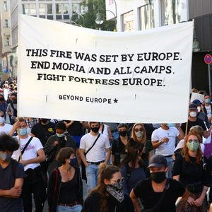 Berlin protesters say EU must let in migrants before bloc outlines plans