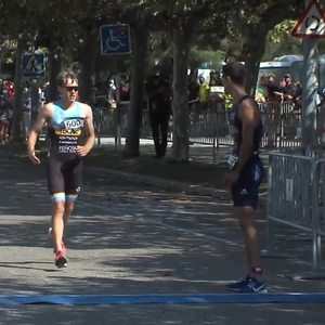Triathlete praised for act of sportsmanship after allowing rival to finish third
