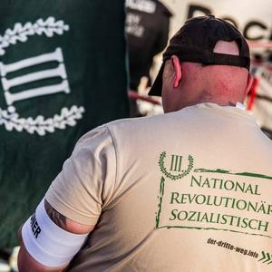The III. Way: Neo-Nazis march at the Lindencenter