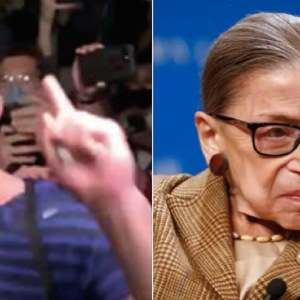Pro-Trump conspiracy theorist Jacob Wohl crashes RBG vigil and screams 'Roe v Wade is dead!'
