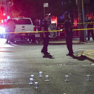 Brooklyn gunfire leaves man, woman standing on corner shot in legs