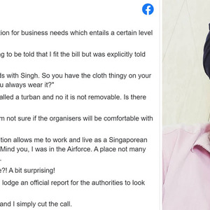 Photographer allegedly told to remove his turban for work as organisers may not be comfortable during consultation - The Online Citizen