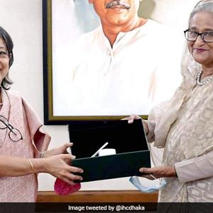 Sheikh Hasina stresses 'better cooperation' with neighbours as outgoing Indian envoy calls on