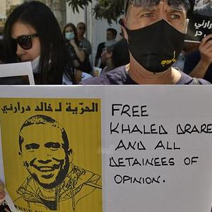 In Algeria, it is not good to show your support for journalist Khaled Drareni