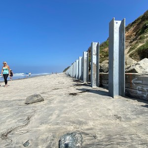 Steel Beams Installed to Reinforce Del Mar Beach Bluffs