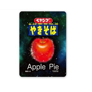 "[Apple] ""Peyoung Apple Pie Taste Yakisoba"" will be released on September 21st. A shining apple floats in outer space (?) The mysterious package is also amazing"