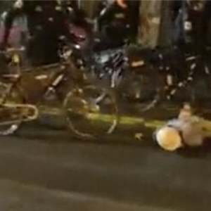Protester whose head was walked over with bike by Seattle police officer says incident shows 'disregard for human life'