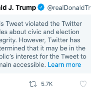 Twitter flags 'misleading' Trump tweet after president suggests ballot boxes may spread coronavirus
