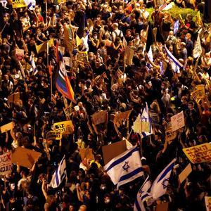 Israelis protest against second virus lockdown